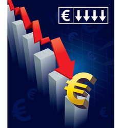 Euro currency crash vector