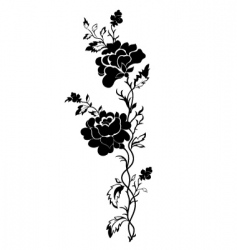 Vertical floral pattern rose tattoo vector
