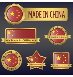 Made in china vector