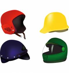 Helmets for a motorcycle vector