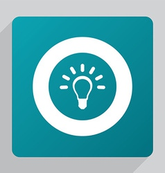 Flat idea icon vector