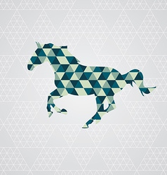 Horse pattern vector