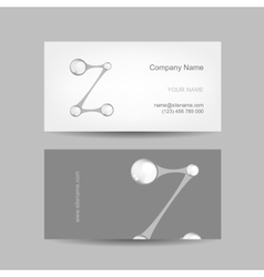 Business card design with letter z vector