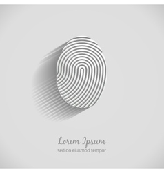 Fingerprint logo vector