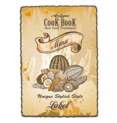 Antique vintage label vector