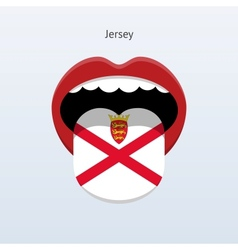 Jersey language abstract human tongue vector