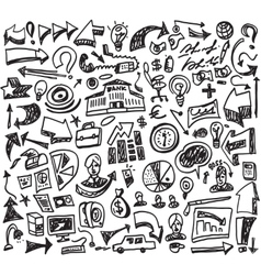 Business doodles vector