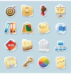 Sticker icons for business and finance vector