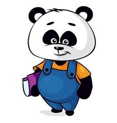 Clever panda vector
