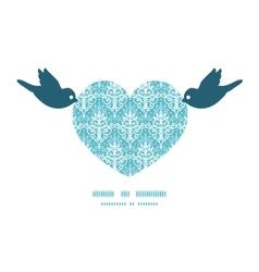 Light blue swirls damask birds holding vector