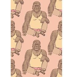 Sketch fancy gorilla in vintage style vector