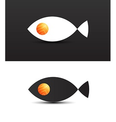 Concept of salmon fish vector