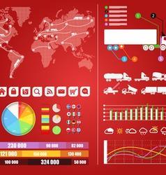 Cargo infographics vector