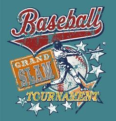 Baseball grandslam vector