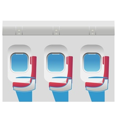 Aircraft cabin with portholes and seats vector