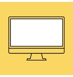 Monitor pc design template element for web and vector