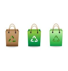 Recyclable bag vector