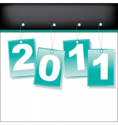 Labels for 2011 year illustration vector