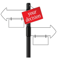Sign and your decision which way vector