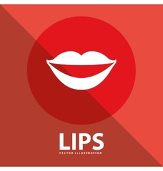Lips button vector