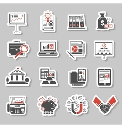 Finance sticker set vector