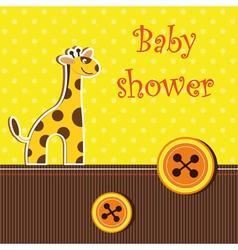 Shower card with giraffe vector