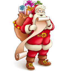 Santa claus with full sack vector