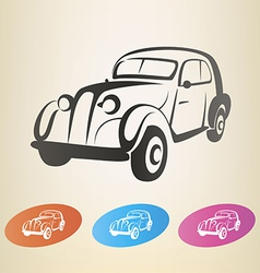 Old retro car symbol vector