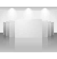 Three dimensional blank template of exhibition vector
