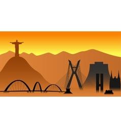 Brazil skyline vector