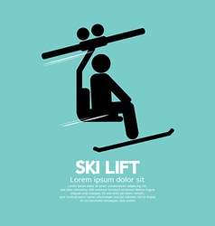 Ski lift graphic symbol vector