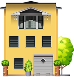 A big yellow building vector