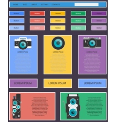 Photo video camera and multimedia equipment web vector