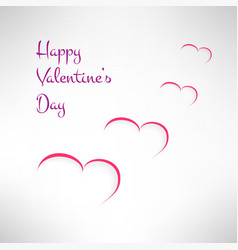 Valentines card background with red and white vector