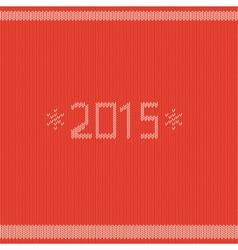 New year greeting card with knitted texture vector