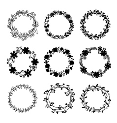 Hand-draw wreaths vector