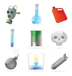 Icons for dangerous chemistry vector