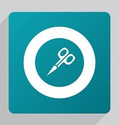 Flat scissors icon vector