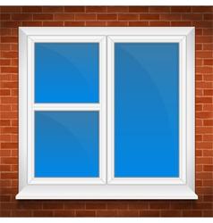 Window in brick wall vector
