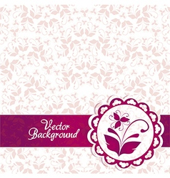 Pink and purple vintage elegant ornament backgroun vector