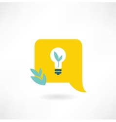 Eco light bulb icon vector
