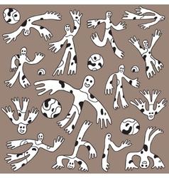 Funny characters - doodles set vector