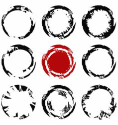 Grunge circle stains vector