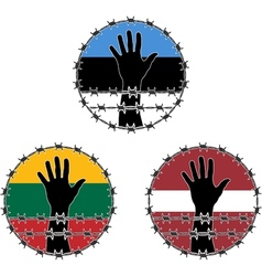 Violation of human rights in baltic states vector