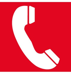 Emergency telephone safety sign vector