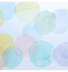 Watercolor colorful circles background vector