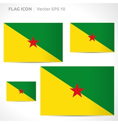 French guiana flag template vector