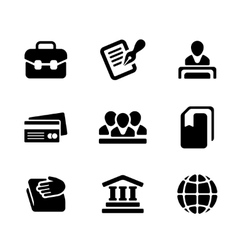 Financial activity and business staff flat icons vector