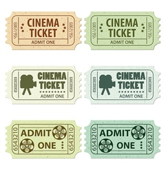 Set of cinema tickets vector