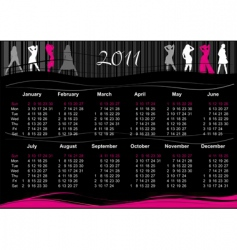 2011 fashion calendar vector